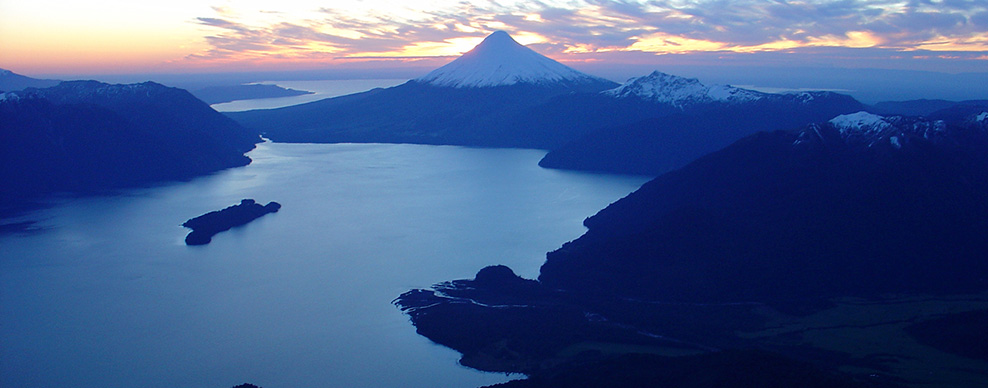 Lakes and Volcanoes - Courtesy of Andean Crossing